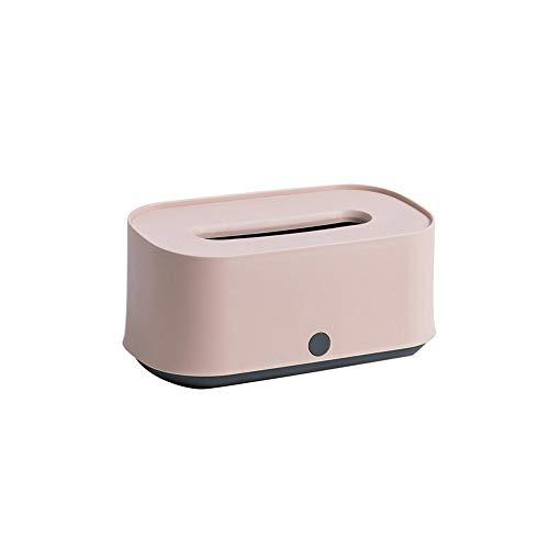 Fancylande Zakdoekbox wit/roze, box voor babydoekjes, papierhouder, multifunctionele zakdoekbox, decoratie voor woonkamer, badkamer, slaapkamer, kantoor - geweldig