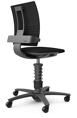 aeris 3Dee High – Ergonomischer Bürostuhl mit patentierter Lehnentechnologie – Schreibtischstuhl ohne Armlehnen mit 3D Bewegungstechnologie – 45-59 cm einstellbare Sitzhöhe