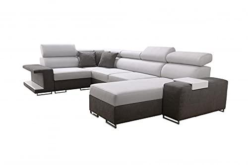 Ecksofa Liza IV Mini Wohnlandschaft Couch Möbel Polstersofa mit Bettkasten Schlaffunktion Links Rechts 26 (Rechts)