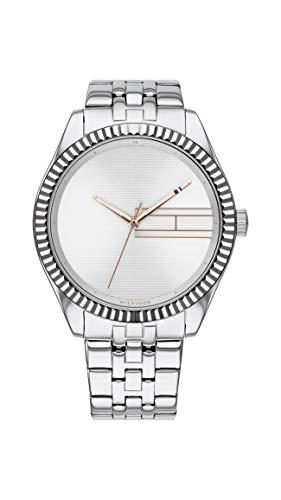Tommy Hilfiger Damen Analog Quarz Uhr mit Edelstahl Armband 1782080