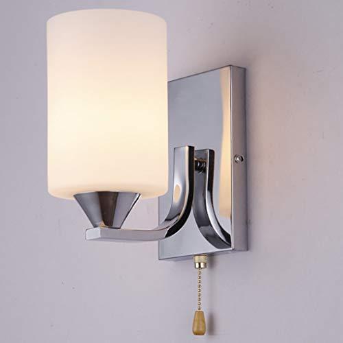 BDJJZHXYP Lámpara de Pared Sencilla y Moderna, lámpara de Pared de la Cama Creativa de la Moda Plateada, lámpara de Dormitorio, con Cable