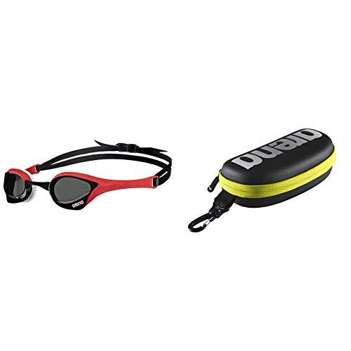ARENA Cobra Ultra Occhiali Da Nuoto, Unisex Adulto, Unisex Adulto, Cobra Ultra, Nero (Smoke, Rosso, Bianco), Taglia Unica & Goggle Case, Astuccio Per Occhialini Unisex Adulto, Nero