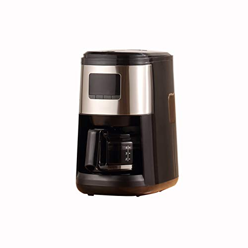 Drip Coffee Maker with Built-in Coffee Burr Grinder, Grinder Overheating Protection, Single Serve Coffee Machine, One-Key Automatic Cleaning