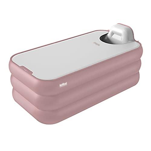 Aufblasbare Badewanne Faltbare Badewanne Eindicken Ganzkörper-Bidet Für Den Haushalt Übergroße Badewanne Kinderbadewanne Tragbare Badewanne (Color : Pink, Size : 160 * 94 * 54cm)