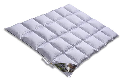 Daunendecke - Daunenbett -EXTRA WARM - TESTSIEGER - Wild Moscovy - 90% Premium Bettdecke - Made in Germany Since 1947-135 x 200 cm