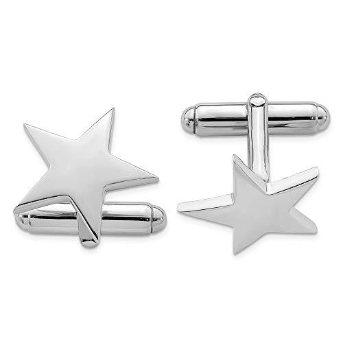 Boutons de manchette Homme-Argent 925/1000 étoile-JewelryWeb