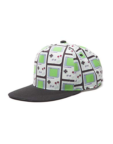 Meroncourt Nintendo Gameboy All-Over Print Snapback Baseball Cap Casquette, Gris, Taille Unique Mixte