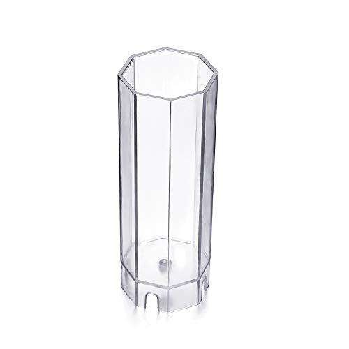 bigdispawl - Moldes de plástico para Velas, 10 Formas, Octagonal-6 * 15.3cm