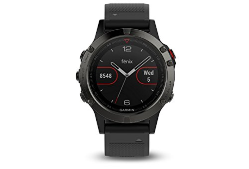 Garmin Fenix 5 Sapphire - Black with Black Band (Renewed)