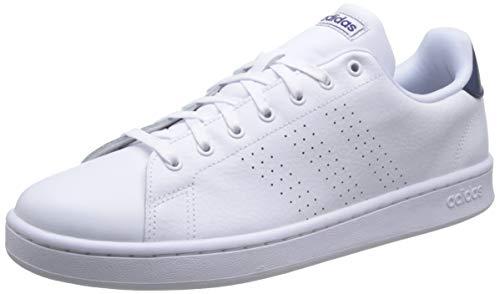 adidas Advantage, Tennis Shoe Mens, Ftwwht/Ftwwht/DKBLUE, 43 1/3 EU