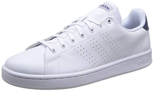 Adidas Advantage, Sneaker Mens, Footwear White/Footwear White/Dark Blue, 45 1/3 EU