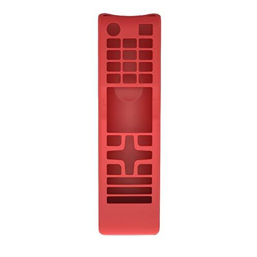 Youmine Funda de Silicona Cubierta Protectora del Control Remoto Adecuado para TV BN59 AA59 Series Control Remoto Rojo
