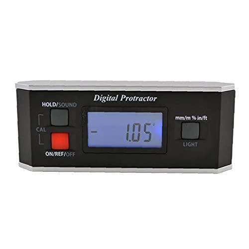 Nivel ángulo Medidor Digital del inclinómetro del prolongador Buscador V Groove retroiluminación IP65 a Prueba de Agua Negro