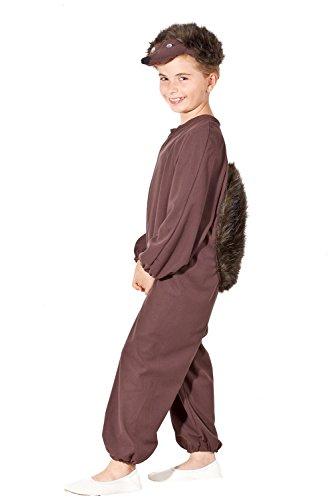 Ga.ma Igel Kostüm für Kinder - süßes Igelchen Kinderkostüm für Mädchen & Jungen (98/104)