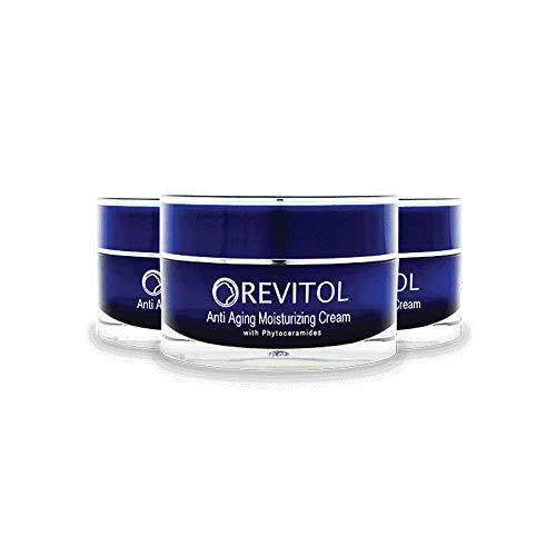 Revitol Anti-Aging Skin Cream Moisturizer - Moisturizing Lotion with Phytoceramides, Natural Ceramides, Argiline, Shea Butter, and Primrose Oil - 3 Pack