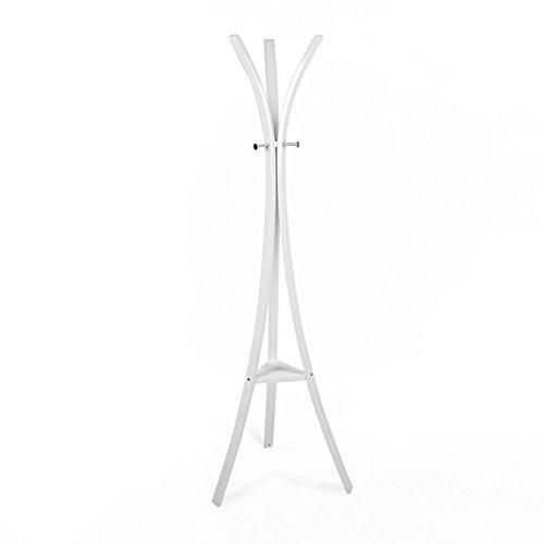 Tuoni Appendiabiti New Star Bianco da Terra-5555183H, Metallo, 45 x 45 x 175 cm