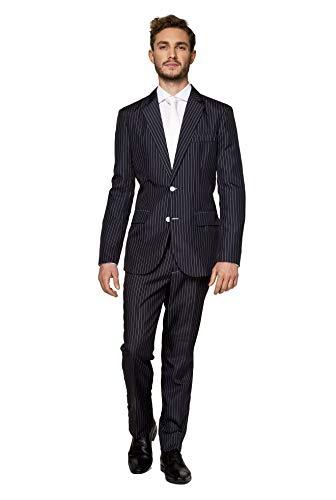 Suitmeister Halloween Anzüge - Gangster - Mit Jackett, Hose und Krawatte - XL
