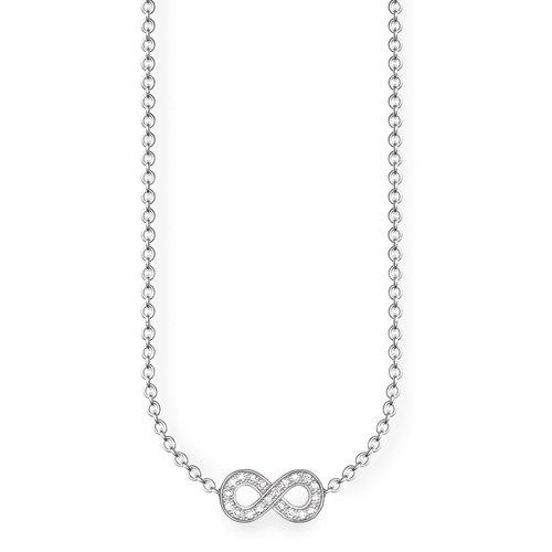 Thomas Sabo Damen-Kette mit Anhänger Glam & Soul 925 Silber Diamant (0.05 ct) weiß 45 cm - D_KE0001-725-14-L45v