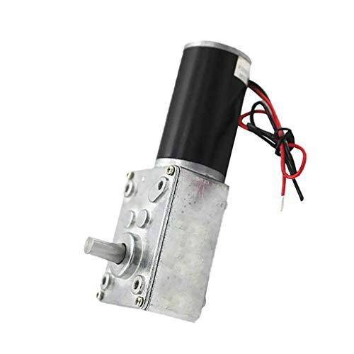 MOZUSA Alto par Turbo Worm Caja de Cambios Micro-Motor de ángulo Recto del motorreductor - 12V 80rpm Herramientas