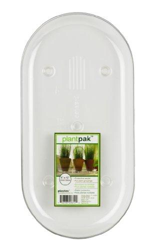 Plastec PLIPAK612 Oval Plantpak Saucer, Clear, 12-Inch