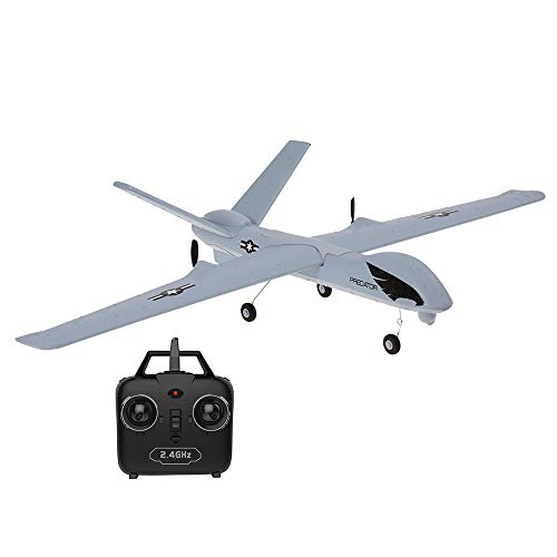 Goolsky Z51 Drone 2.4G 2CH Predator Remote Control RC Airplane 660mm Wingspan Foam Hand Throwing Glider Drone DIY Kit for Kids Beginners