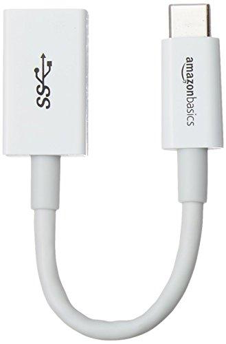 Amazon Basics USB Type-C to USB 3.1 Gen1 Female Adapter Cable - White