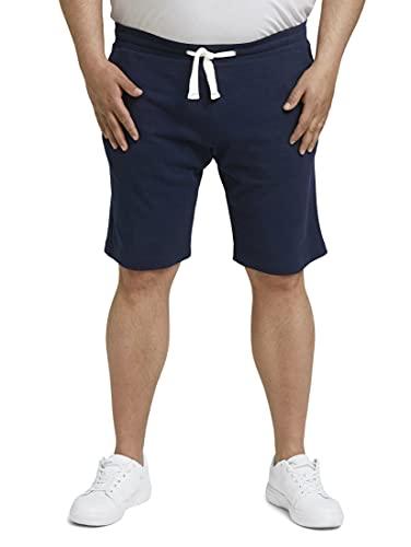 TOM TAILOR Men+ 1027880 Plussize Sweatpants Bermuda, 10932-Sailor Blue, 4XL Homme