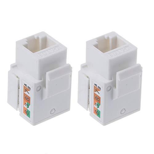 2 módulos de red CAT6 hembra de información RJ45 adaptador Keystone Jack cable Ethernet