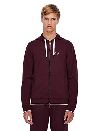 ARMANI EXCHANGE Hooded Sweatshirt Felpa con Cappuccio, Winetasting, XS Uomo