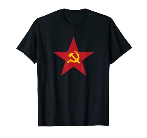 Falce e martello bandiera dell'Unione Sovietica URSS Maglietta