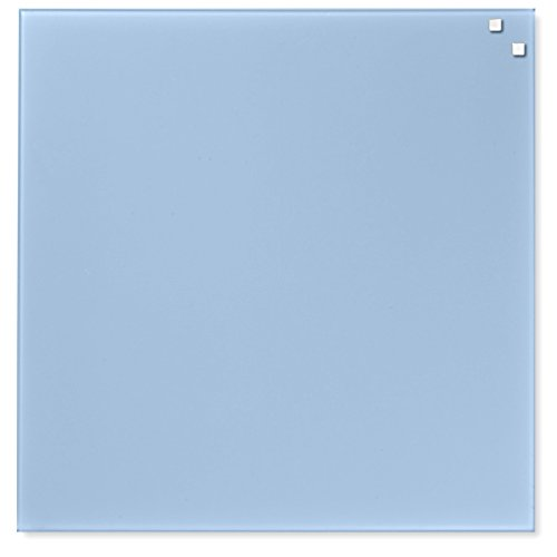Pizarrón De Cristal Imantado Azul Claro 45×45 Centímetros. Incluye Marcador De Tiza Líquida – Marca…