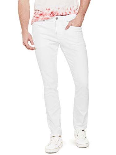 GUESS Factory Men's Scotch Medium Rise Denim Skinny Fit Jeans