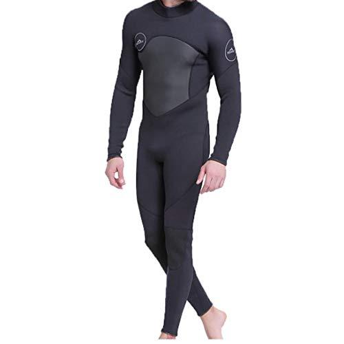 Männer Wetsuit Voll Neopren Scuba Anzüge für Männer Warme Sonnenschutz Wetsuit Wassersport Schwarz M, Wetsuit
