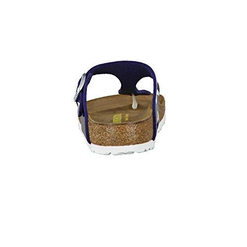 Birkenstock BIRKENSTOCK Damenschuhe 1005301 Gizeh Blau (Patent Dress Blue), EU 35, Normale Weite
