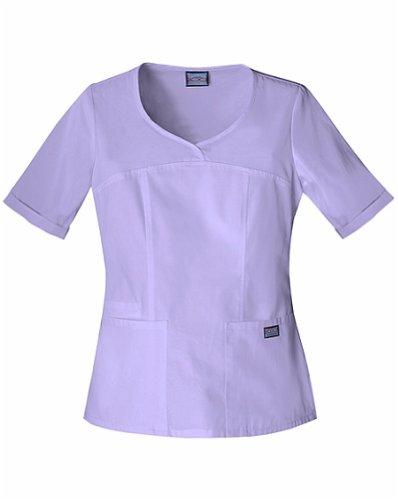 Cherokee Women's Workwear Scrubs V-Neck Top, Orchid, XXX-Large