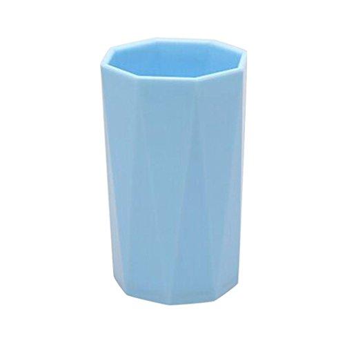Gobelet à eau, Mamum fantaisie Lait jus Citron Mug Café Tasse à thé Home enfant pliables Cadeau Vert/bleu/rouge/violet Taille unique bleu