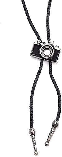 Collar Collar Estilo vintage Encanto de cámara Cuerda de cuero de vaca Collares pendientes para hombres Mujeres Joyería de moda Accesorios de regalo-2 para mujeres Hombres Niños Niñas Regalo