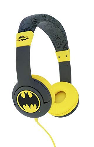 OTL Technologies Batman Caped Crusader - Auriculares con Cable para niños, Gris