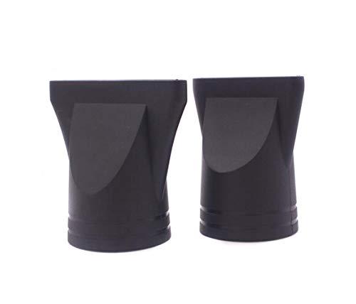 2 piezas profesional de plástico para secador de pelo boquilla de repuesto estrecha concentrador de repuesto soplado de peluquería boquilla de secado de cabello para diámetro exterior de 4,5 a 4,6 cm