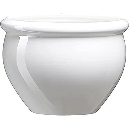 """Foto di Emsa 512668 - Vaso di fiori """"Siena"""" da giardino in polipropilene, 26 cm, bianco perla"""
