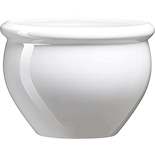 Emsa 512668 - Vaso di Fiori Siena da Giardino in Polipropilene, 26 cm, Bianco Perla