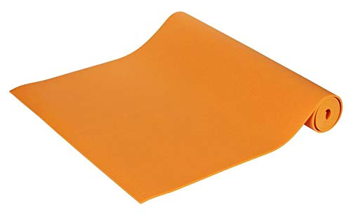 Yogamatte Premium 200 x 80 x 0,45 cm Made in Germany, orange