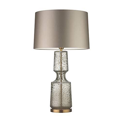 Lampada da Tavolo Moderna 22' La lampada di vetro LED da tavolo con paralume tamburo contemporanea in vetro Lampada da tavolo for la camera da letto, salotto, ufficio, Tavolino, Libreria Lampada da Sc