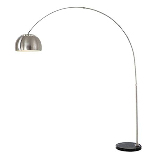 PPAMZ Lámpara de pie LED Arco, Lámpara de Lectura E27 de Lectura con Mármol Base, para Salon, Dormitorio, Estudio y Leer, Diseño Moderno, Luz cuidado Ojos, Luz cálida