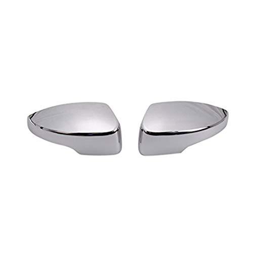 YYAN Cubiertas de Espejo Lateral Cubierta de Vista Trasera Mirador Exterior Ajuste para Ford Escape Kuga 2013-2019 Chrome 2pcs (Color : Silver)