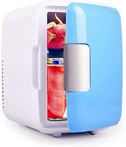 LZXH Refrigerador para automóvil Mini refrigerador portátil de 4 litros, Enfriador eléctrico y AC/DC Aislado, Adecuado para Dormitorio, automóvil, Alimentos, Leche Materna, Oficina en el hogar