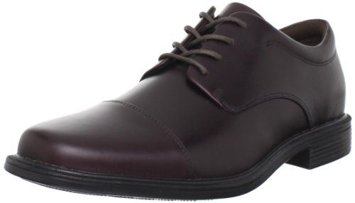 Rockport Mens Ellingwood Cap Toe Oxford-Oxblood-10 M