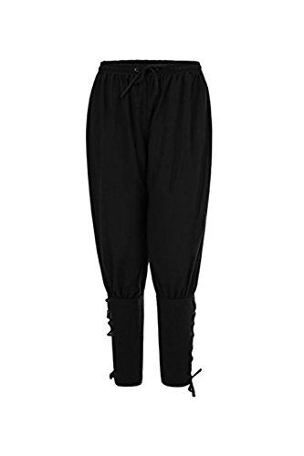 tianxinxishop Pantalones de Hombre Medievales Pantalones Vikingo Pantalones Harem Hombres Suelto Negro/Verde/Marrn
