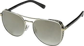 Jimmy Choo Gray, Gold Gradient Aviator Ladies Sunglasses