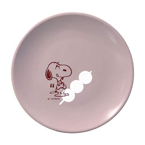 ピーナッツ スヌーピー いろどり 塗小皿 団子 桜鼠色 609513